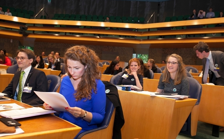 Studentenparlement 2017: Team in de Tweede Kamer