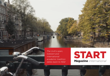 Voorpagina van het internationale Start Magazine 2018-2019.
