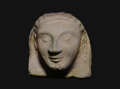 3D scanned antefix from acquarossa, Italy