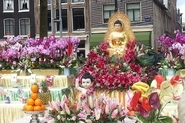 Buddha's birthday at the Nieuwmarkt in Amsterdam