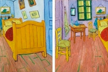 Fading of red pigments in Van Gogh's painting