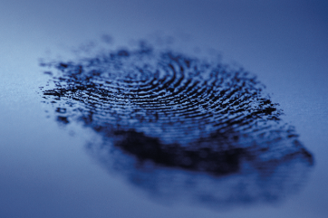 Vingerafdruk Forensic Science fingerprint