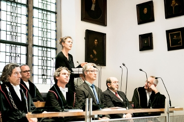 PhD commission at a PhD ceremony of the Amsterdam Law School