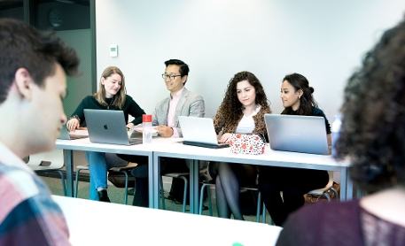 Law students in a workshop