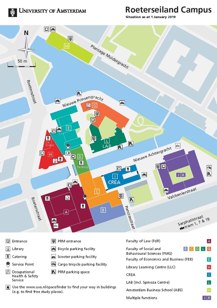 Roeterseiland Campus - Map